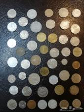 40 عملة معدنية متنوعة للبيع -العرض (6)-