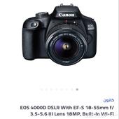 كاميرا احترافية كانون 4000D wifi