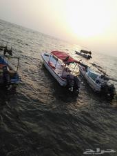 قارب الفردان للبيع  الطول 8 ونص 2016 شبه جديد ( قارب طراد لنش بوت )