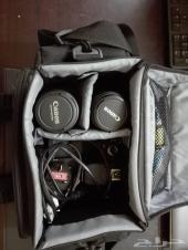 كاميرا كانون دي 600  ومعاها شنطه كاملة
