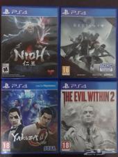 مجموعة من افضل العاب  PS4  بأسعار مناسبة