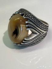 خاتم عقيق حجر من النوادر