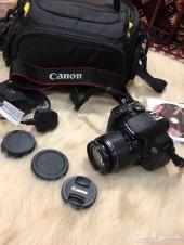 كاميرة كانون 650d  استعمال شخصي  شبه جديدة