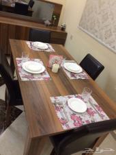 طاولة طعام مع بوفيه تركيه فاخره