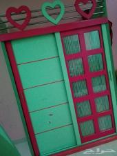 غرفة اطفال سريرين مع دولابها للبيع