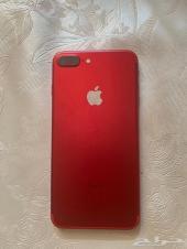 ايفون 7 بلس احمر 128 قيقا