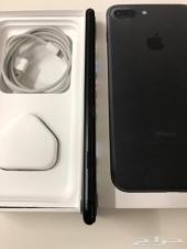 للبيع جوال ايفون 7 بلس 128G اسود مطفي