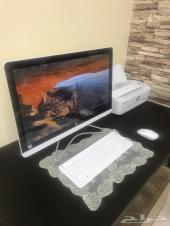 كمبيوتر مكتبي HP ( الكل في واحد ) مع طابعة