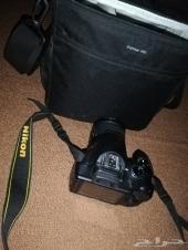 كاميرا نيكون d3400 نظيفة وجديدة