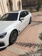 BMW 740 فل ابيض داخل بني 2019 سعر خاص 335 الف