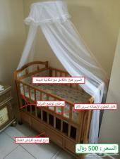 سرير أطفال شبه جديد للبيع
