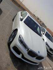 BMW 740 فل ابيض داخل بني 2019 سعر خاص 360 الف