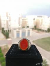 مزاد على خاتم عقيق احمر يماني