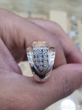 خاتم اوبال اثيوبي مرصع اللماس ابيض