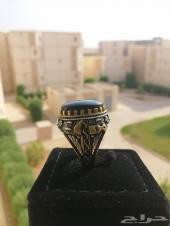 مزاد على خاتم عقيق يمني أسود