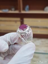 خاتم ياقوت افريقي طبيعي كاتنق