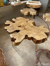 تفصيل طاولات من الخشب الطبيعي