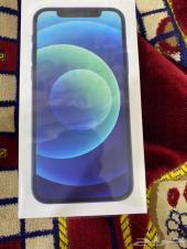 ايفون 12ازرق جديد128GB