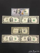 دولارات أمريكية ورقية ومعدنية قديمة ونادره