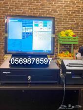 جهاز كاشير لمس للكافيهات والمطاعم بسعر 2600