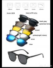نظارات شمسية ب 6 عدسات مختلفة ب 150 ريال