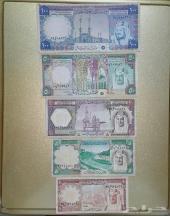 عملات قديمة طقم الملك خالد بصورة الملك فيصل