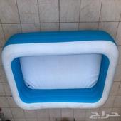 مسبح اطفال3متر طول في عرض 1.83في 56 ارتفاع مستعمل