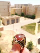 مزاد 12 ساعة على خاتم عقيق يمني مصور