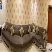 للبيع في جدة كنب مستخدم   نجفة كرستال   طاولة تلفزيون 2 متر