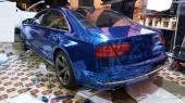 تجليد السيارات باللون الازرق النيكل(الكروم)