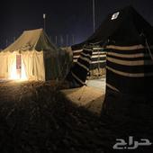 مخيم قسمين جاهز للايجار وللبيع موقع الثمامه