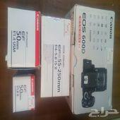 كاميرة كانون EOS 600D مع 3 عدسات إحترافية
