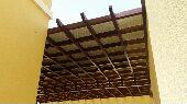 مظلات وسواتربرجولات حديد على شكل خشب حدادعامه