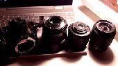 كاميرا احترافيه مع 3 عدسات