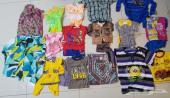 ملابس اطفال وولادي ونسائي مختلفة الكميات