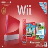 جهاز نينتندو وي احمر ( Wii )