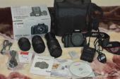 للبيع كاميرا كانون 600D مع 3 عدسات