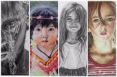 رسام لرسم الوجوه الحقيقية .