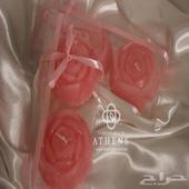 شموع ورد برائحه الورد الطائفي