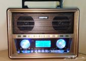 راديو خشبي GEEPAS شكل تراثي بمميزات حديثة