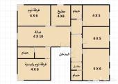 شقة 5 غرف بمنافعها للايجار