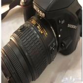 كاميرا نيكون D3300 مستخدمة مرة واحدة