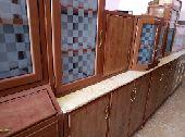 مطبخ مستعمل نظيف 3 متر مع التوصيل والتركيب دا
