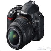 كاميرا نيكون d3100 شبه جديدة كاميرا احترافية