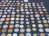 عملات معدن عدد 150 قطعة لعدة دول مختلفة