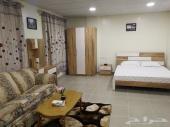 شقق فندقية غرفة وصالة عزاب vip مفروش بالملز