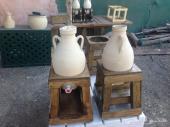 جرة ماء من طين ابيض - زير ماء فخار للبيع
