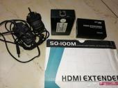 جهاز HDMI EXTENDER وكابلات شبكة LAN و HDMI