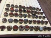 خواتم فضة عقيق منوعة عرض خاص الخاتم ب60