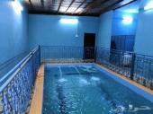 مسبح مع غرفتين للإيجار